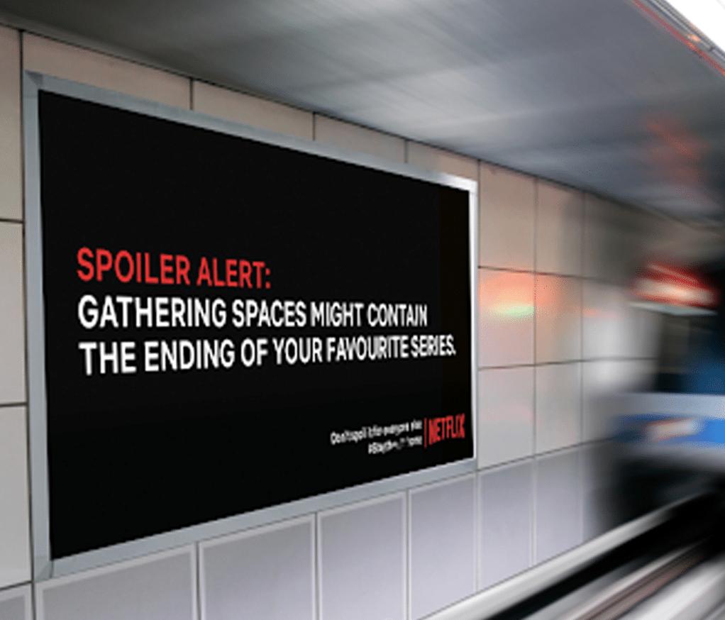 The Netflix Spoiler Billboard  -  Viral Marketing